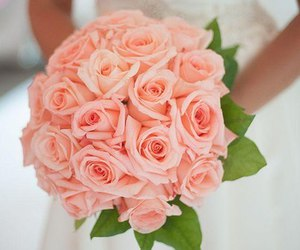 wedding, rose, and flowers image