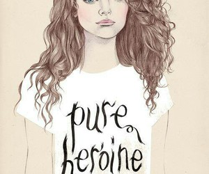 lorde, pure heroine, and drawing image