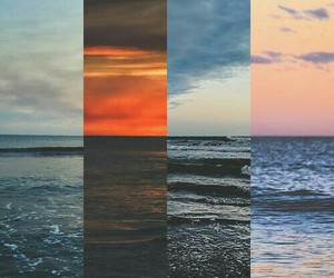 sea, ocean, and sky image