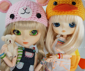 doll, girl, and hat image