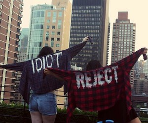 idiot, reject, and grunge image