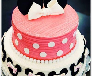 cake, pink, and minnie image