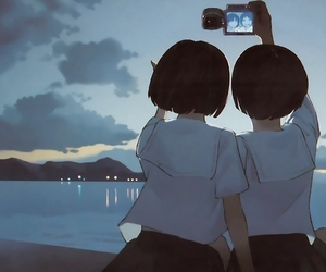 friends, anime, and camera image