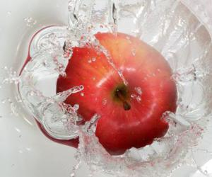 fruit and apple red water drop image