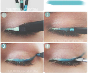 makeup, blue, and diy image