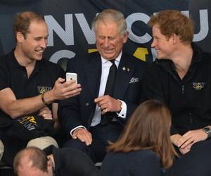 dad, prince harry, and prince charles image