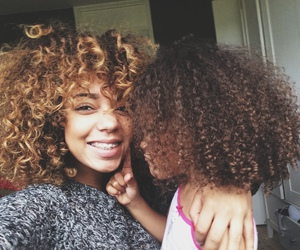 girl and natural curly hair image