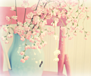 floral, flowers, and pink image