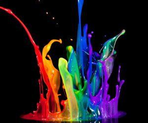 colors, paint, and rainbow image