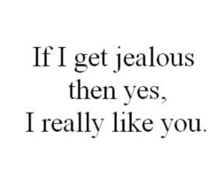 love, jealous, and quote image