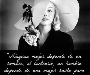 Marilyn Monroe, text, and woman image