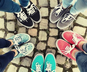 colour, girls, and vans image