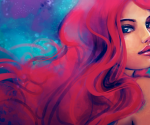 ariel, red, and art image