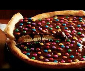 chocolate and pizza image