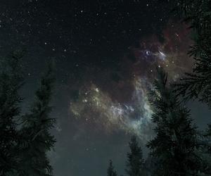 nature, galaxy, and stars image