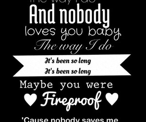 fireproof, one direction, and Lyrics image