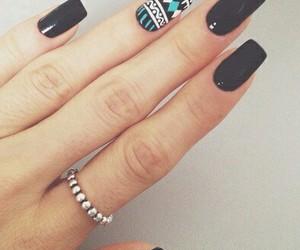 nails, black, and ring image
