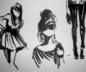 drawing, fashion, and girl image