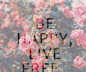 happy, free, and flowers image