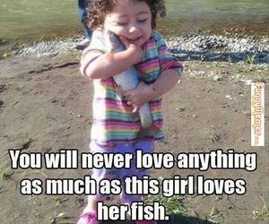 fish, girl, and love image