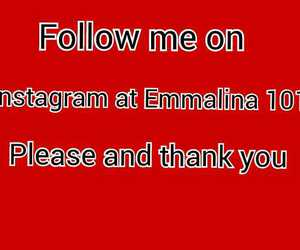 follow, instagram, and red image