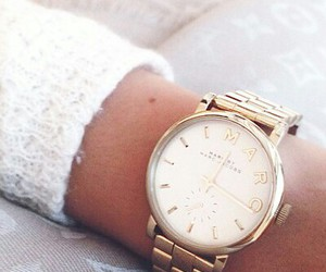 fashion, clock, and gold image