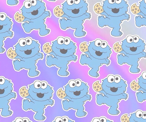 wallpaper, background, and cookie monster image