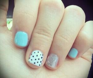 dots, grey, and nails image