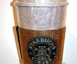 starbucks, coffee, and glitter image