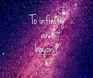 infinity, quote, and stars image