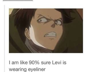 snk, levi rivaille, and levi ackerman image