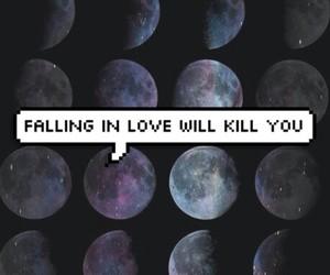 love, kill, and moon image