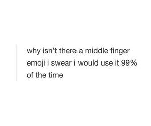 emoji, funny, and middle finger image
