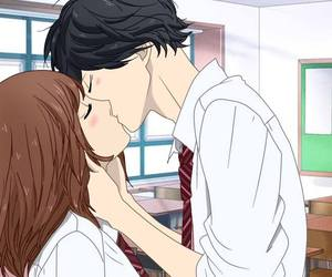 anime, kiss, and ao haru ride image