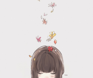 falling, pretty, and smile image