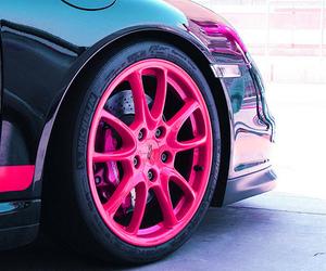 car, pink, and wheel image