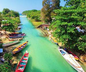 river, jamaica, and travel image