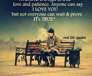 true love, love, and patience image