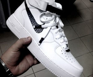 nike, white, and shoes image