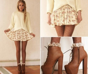 clothes, fashion, and skater skirt image