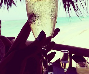 summer, drink, and champagne image