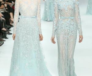 elie saab, dress, and light blue image