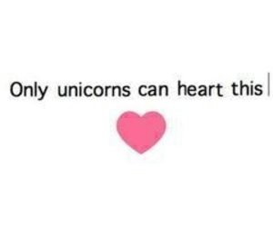 unicorn, heart, and pink image