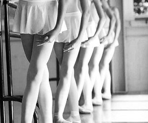 ballet, girls, and black and white image