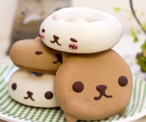food, kawaii, and donuts image
