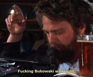 Bukowski and beer image