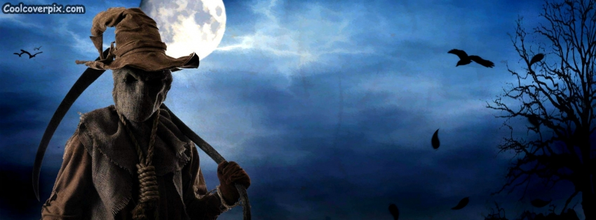 Haunted Scarecrow Halloween Facebook Cover | FB Timeline