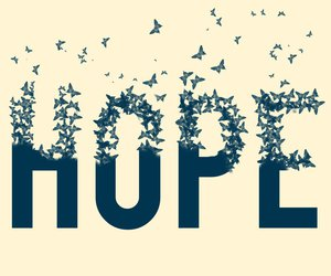 hope and butterfly image