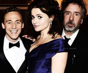helena bonham carter, tim burton, and tom hiddleston image