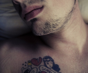 hot guy, lips, and photography image